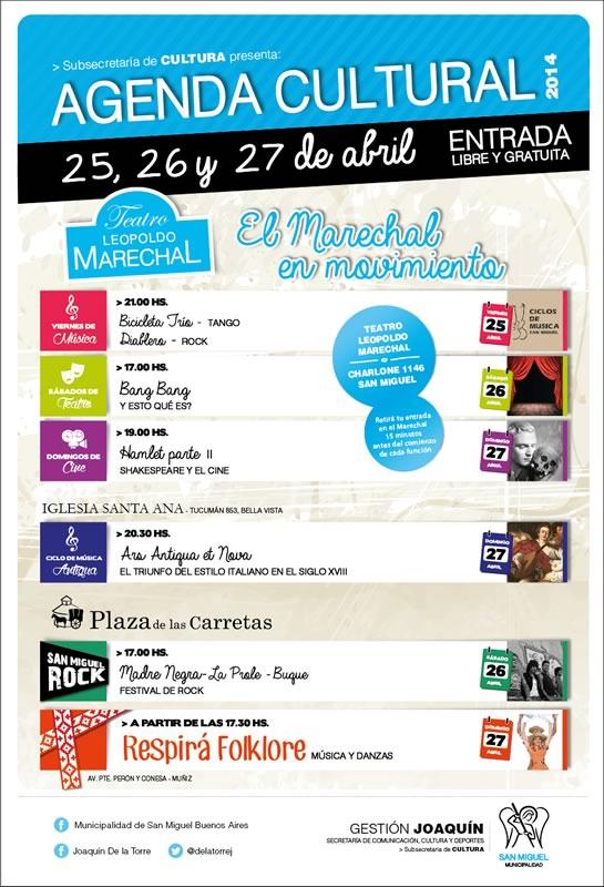 Abril cierra con una gran variedad de espectáculos en San Miguel
