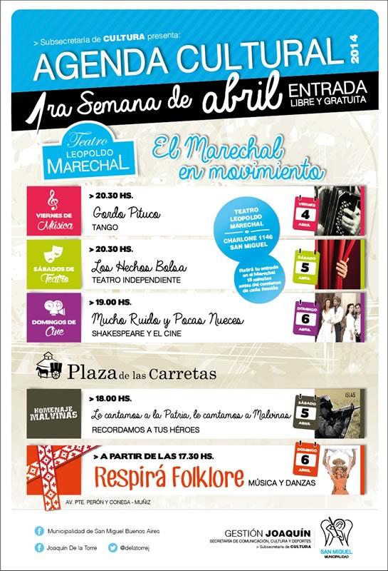 Abril comienza con grandes propuestas culturales en San Miguel