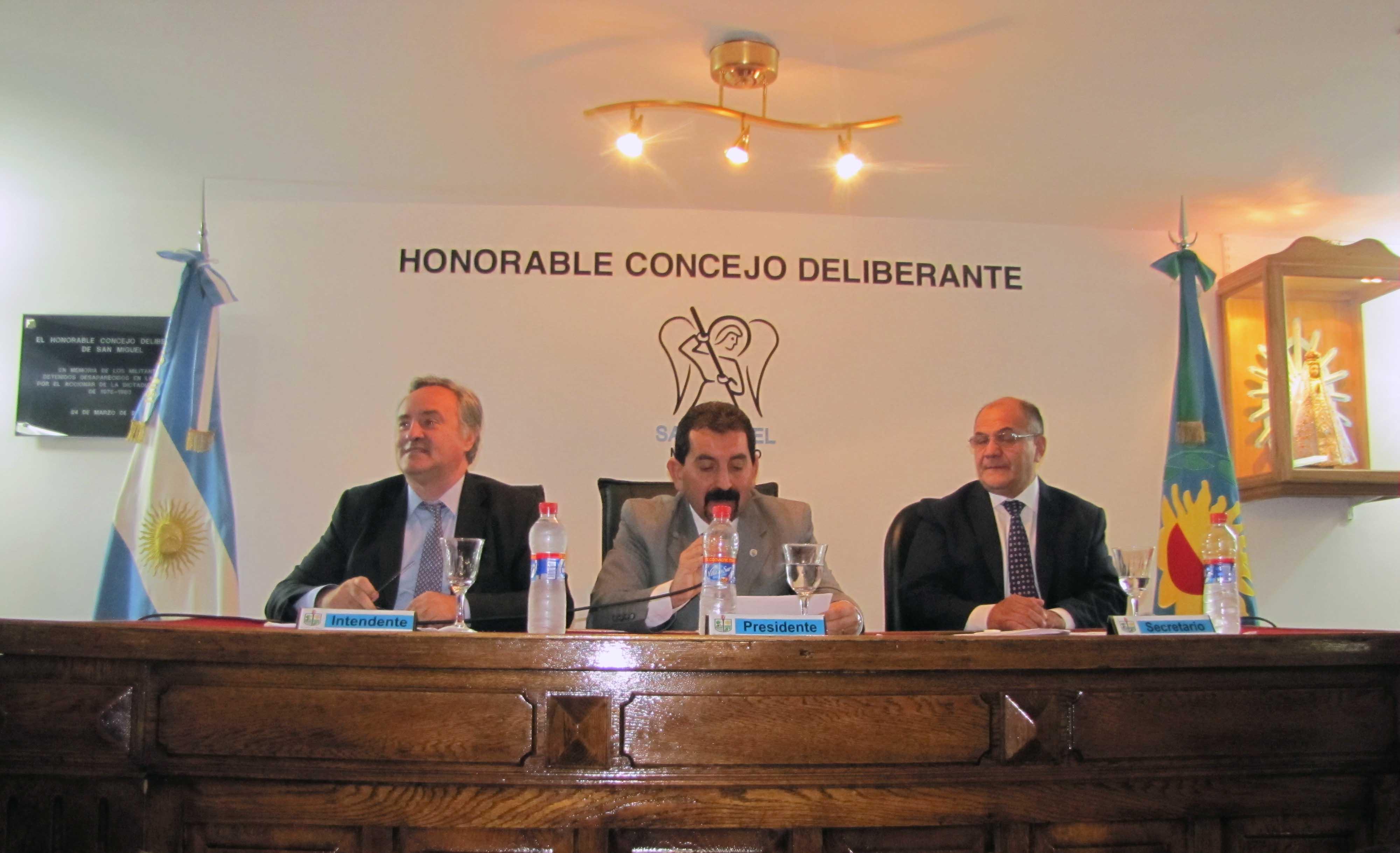Con eje en Seguridad, Salud, Educación y Obras Públicas, Joaquín De la Torre inauguró las sesiones en el Concejo Deliberante de San Miguel