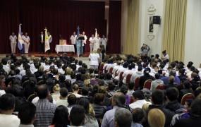 El acto fue en el Salón de actos del Colegio Máximo San José ante la atenta mirada de más de 500 personas entre docentes y estudiantes