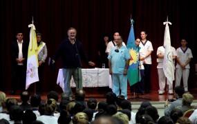 Joaquín de la Torre inauguró nuevas instalaciones en la Escuela de Enfermería de San Miguel
