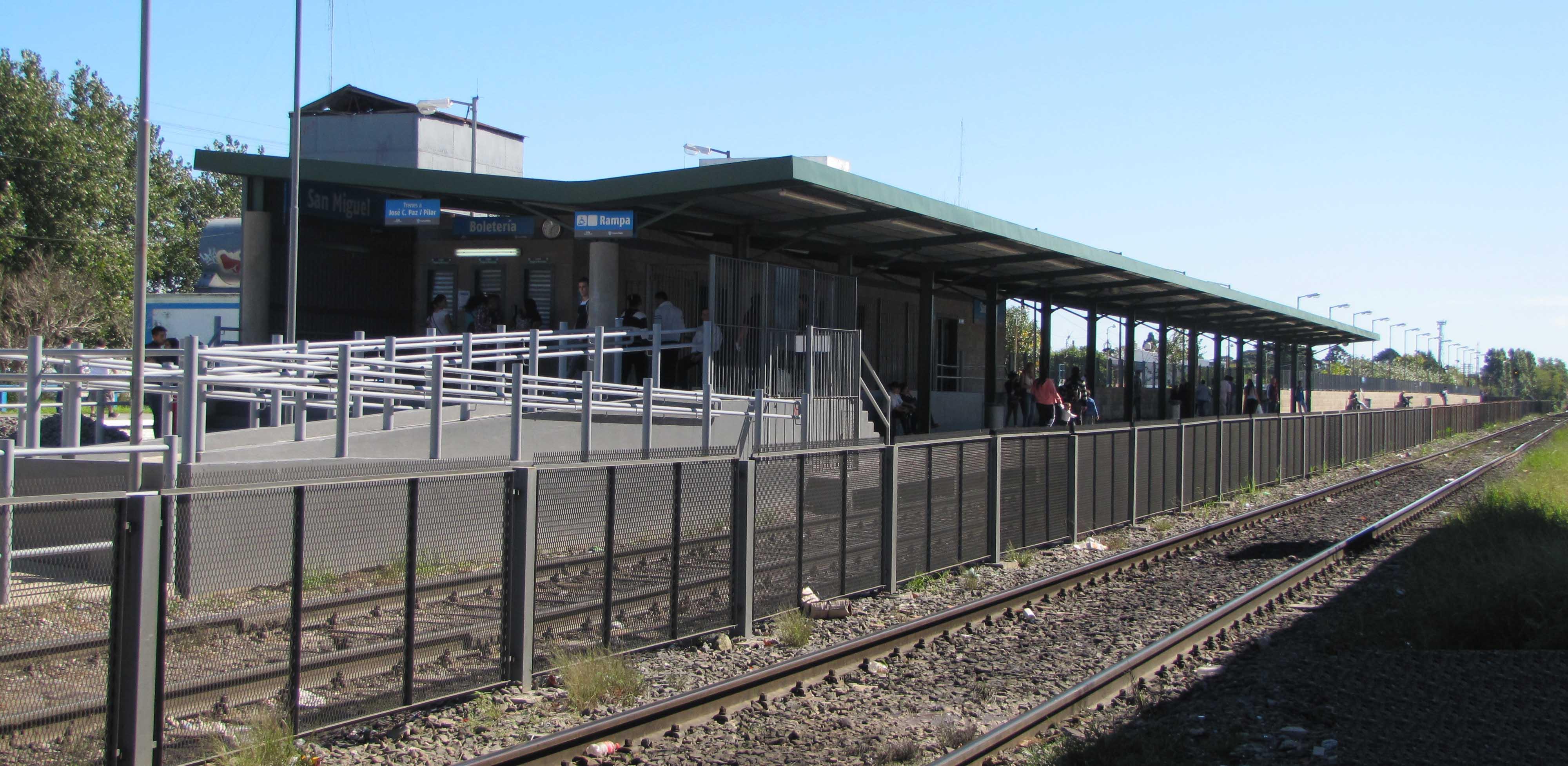 Nuevo andén en la estación San Miguel agiliza el tránsito vehicular