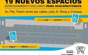 Nuevas plazas de estacionamiento para discapacitados en el centro comercial de San Miguel
