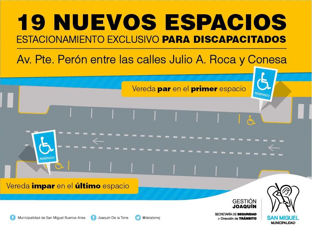 Nuevas plazas de estacionamiento para discapacitados en el centro ...