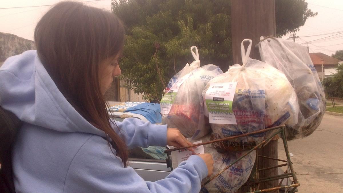 San Miguel realiza operativos para controlar la correcta separación de la basura