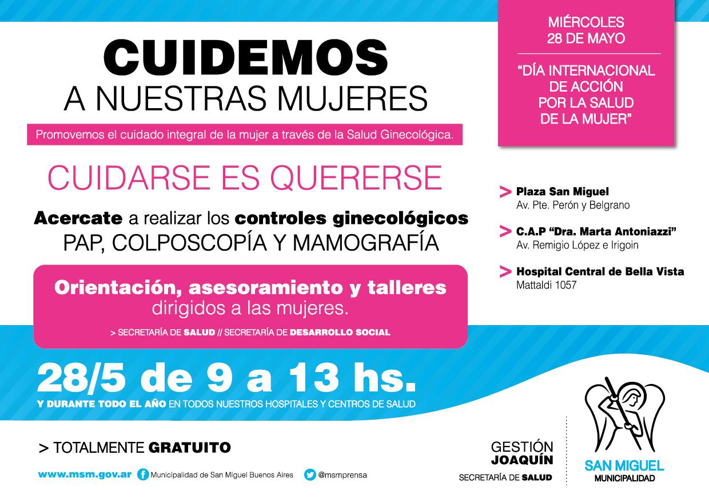 San Miguel organiza jornada por el Día de Acción por la Salud de la Mujer