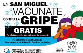 Continúa la Campaña de Vacunación gratuita en San Miguel
