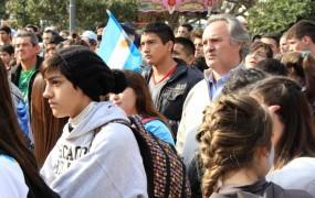 Joaquin de la Torre estuvo presente en la Plaza alentando a la Selección