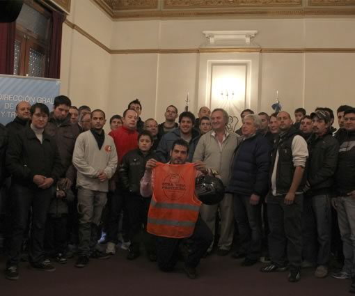 San Miguel lanzó una campaña de concientización vial para comercios con delivery