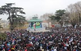 12 mil personas vibraron con el partido de Argentina en la Plaza de las Carretas