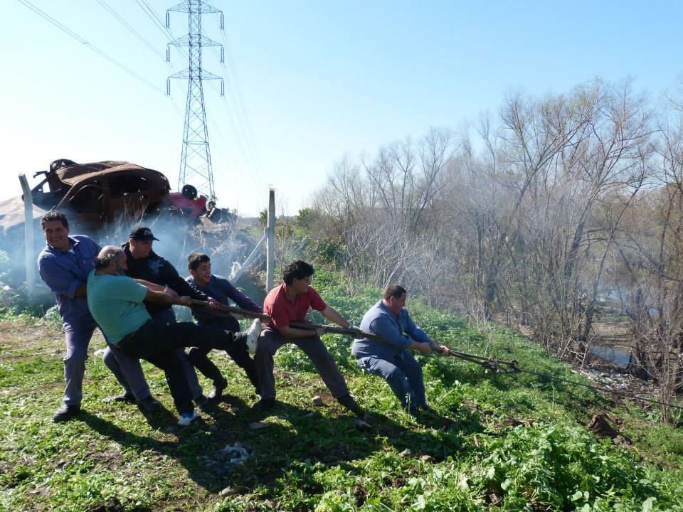 Avanza la limpieza de la  futura Reserva Natural en Bella Vista