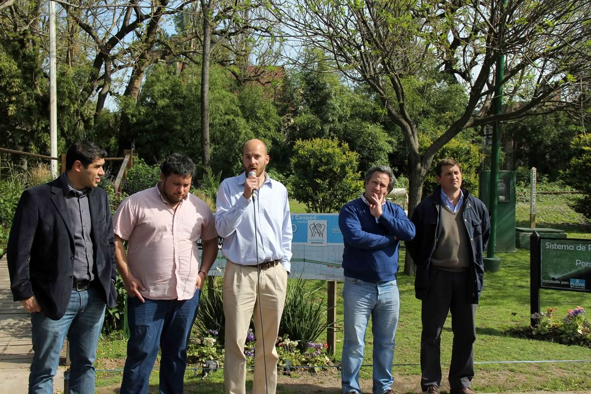 Santiago Piaggio habló en los festejos ante la presencia del Secretario de Seguridad y otros funcionarios