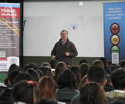 Joaquín de la Torre participó de una charla de concientización vial