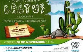 Charla  abierta sobre cactus y suculentas a cargo de la especialista Ingrid Sieburger