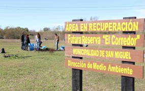 Zona en recuperación del predio que linda al Río Reconquista