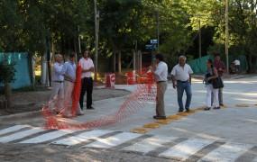 El secretario de Obras realizó la apertura simbólica del paso al tránsito en esa esquina