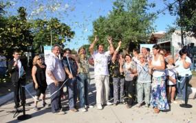 Se inauguraron siete cuadras de pavimento en San Miguel Centro
