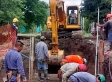 Comenzó el tercer tramo de la obra hidráulica en Barrio Mitre