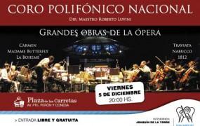 Llegan grandes hitos de la Ópera interpretados por el Coro Polifónico Nacional