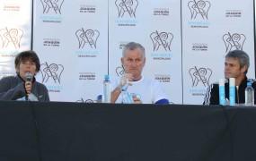 La Dra Rueda, el ex jugador Roy y el subsecretario Dalbene dieron una charla previa a la largada