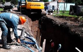 Continúa avanzando la obra hidráulica en Barrio Mitre
