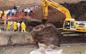 Día histórico en San Miguel: se hizo operativo el primer tramo de la obra hidráulica de la cuenca Santa Fe- Barrio Mitre