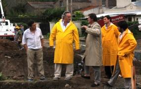Sergio Quiroga, Max Perkins y Federico Randle acompañaron a Jaime Méndez y  a Joaquín de la Torre en la recorrida