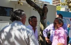 Joaquín estuvo acompañado por Mario Russo y Pablo de la Torre