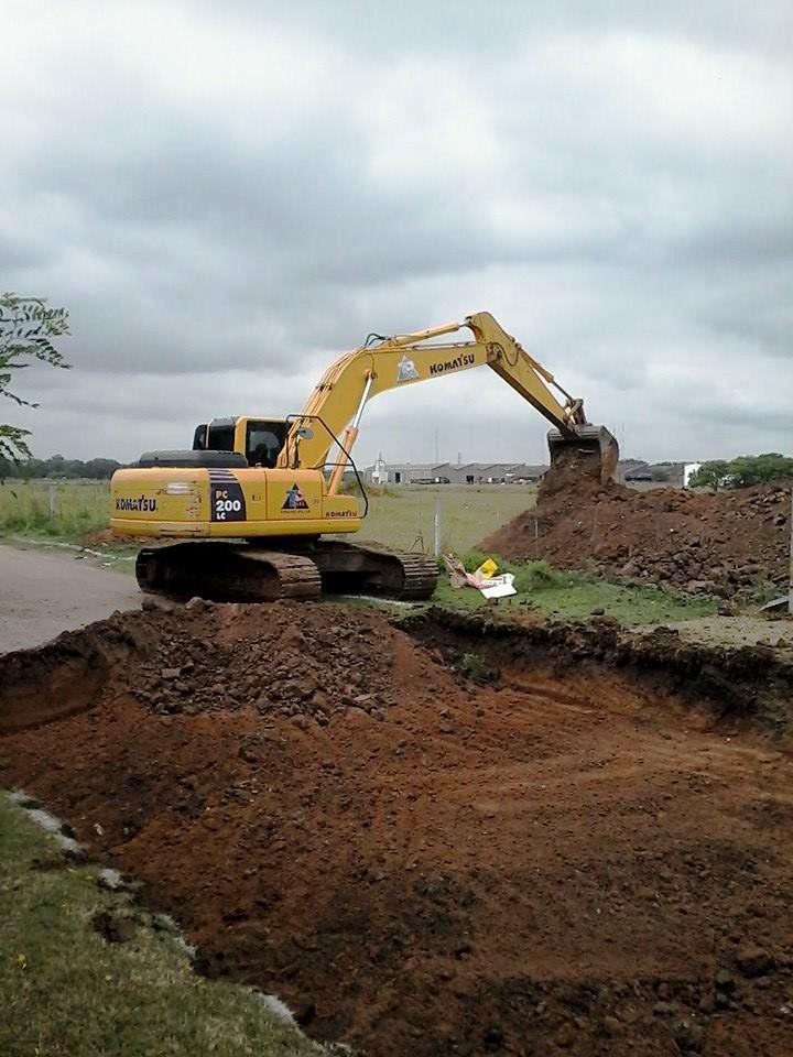 Comenzó la pavimentación de la calle Pampa de Lebenshon a Río Primero