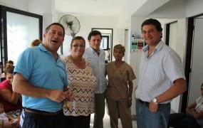 Pablo de la Torre, Jaime Méndez y Max Perkins visitaron el Centro de Salud René Favaloro