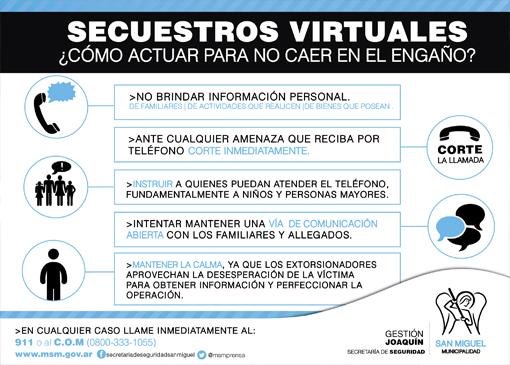 ¿Cómo actuar ante un secuestro virtual?