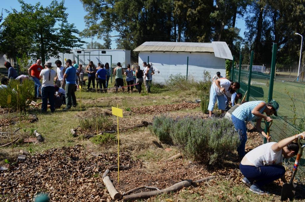 Inicio del taller de huerta agroecológica 2015