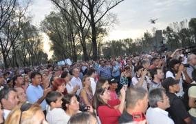 Hubo una multitud en el polideportivo Bella Vista