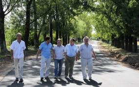 Joaquín recorrió el velódromo junto a Ariel Dalbene, Jaime Méndez, Pablo de la Torre y Max Perkins