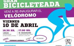 Gran Bicicleteada y reinaguración del nuevo Velódromo municipal