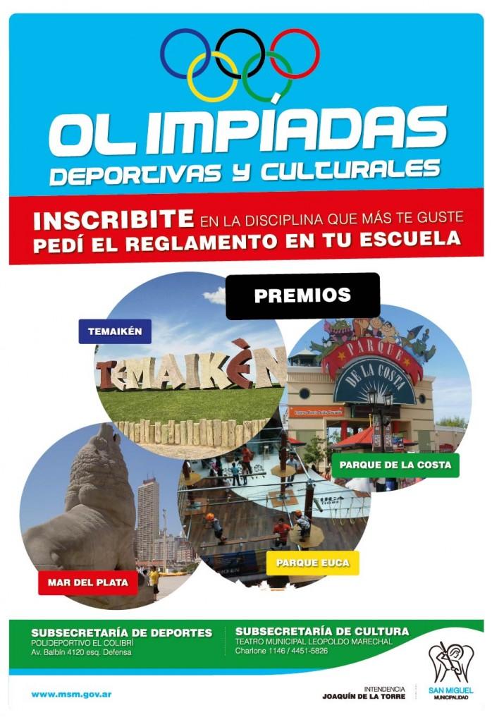AFICHE A3 OLIMPIADAS CULTURALES Y DEPORTIVAS 2015