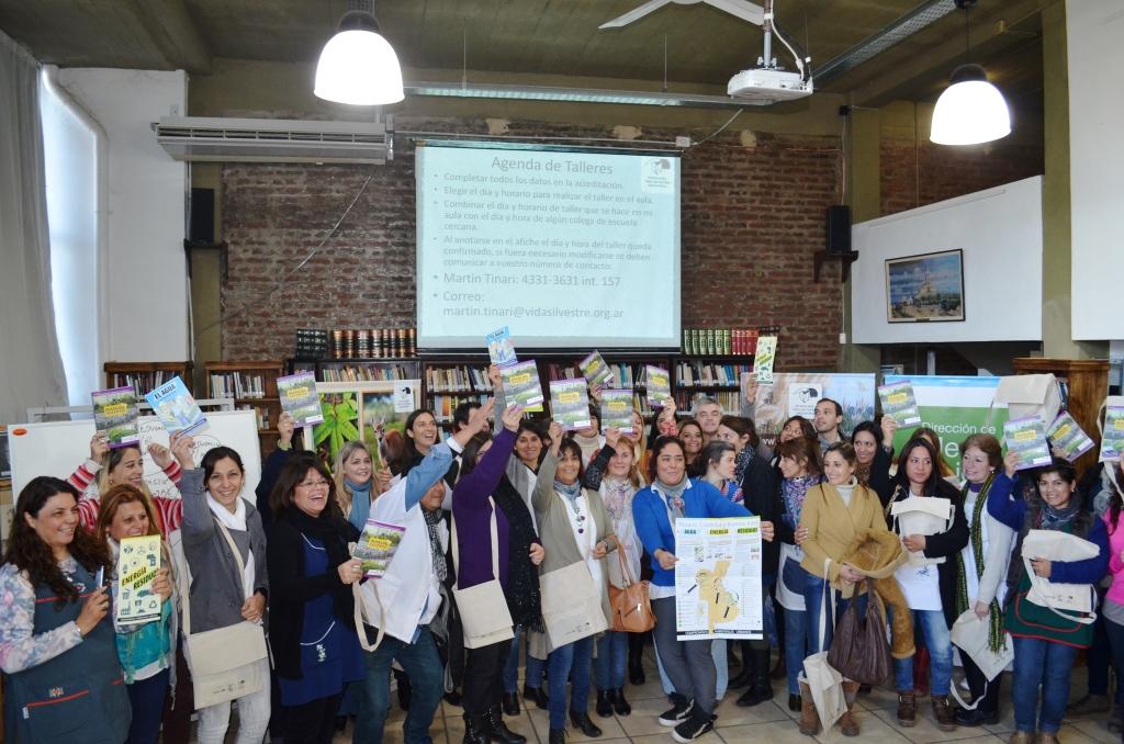 Junto a la Fundación Vida Silvestre Argentina, se capacitó a docentes en Educación Ambiental