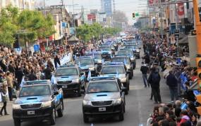 Pasaron los 37 patrulleros municipales de San Miguel
