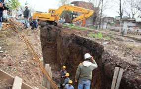 Se está avanzando en el tramo 2 de la obra hidráulica de barrio mitre - copia
