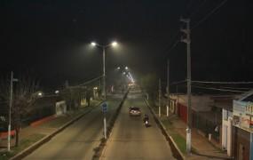 Se está renovando toda la luminaria en distintas arterias clave de San Miguel