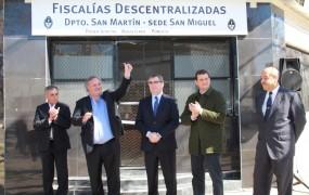 Joaquín de la Torre inauguró la primera Fiscalía descentralizada en San Miguel