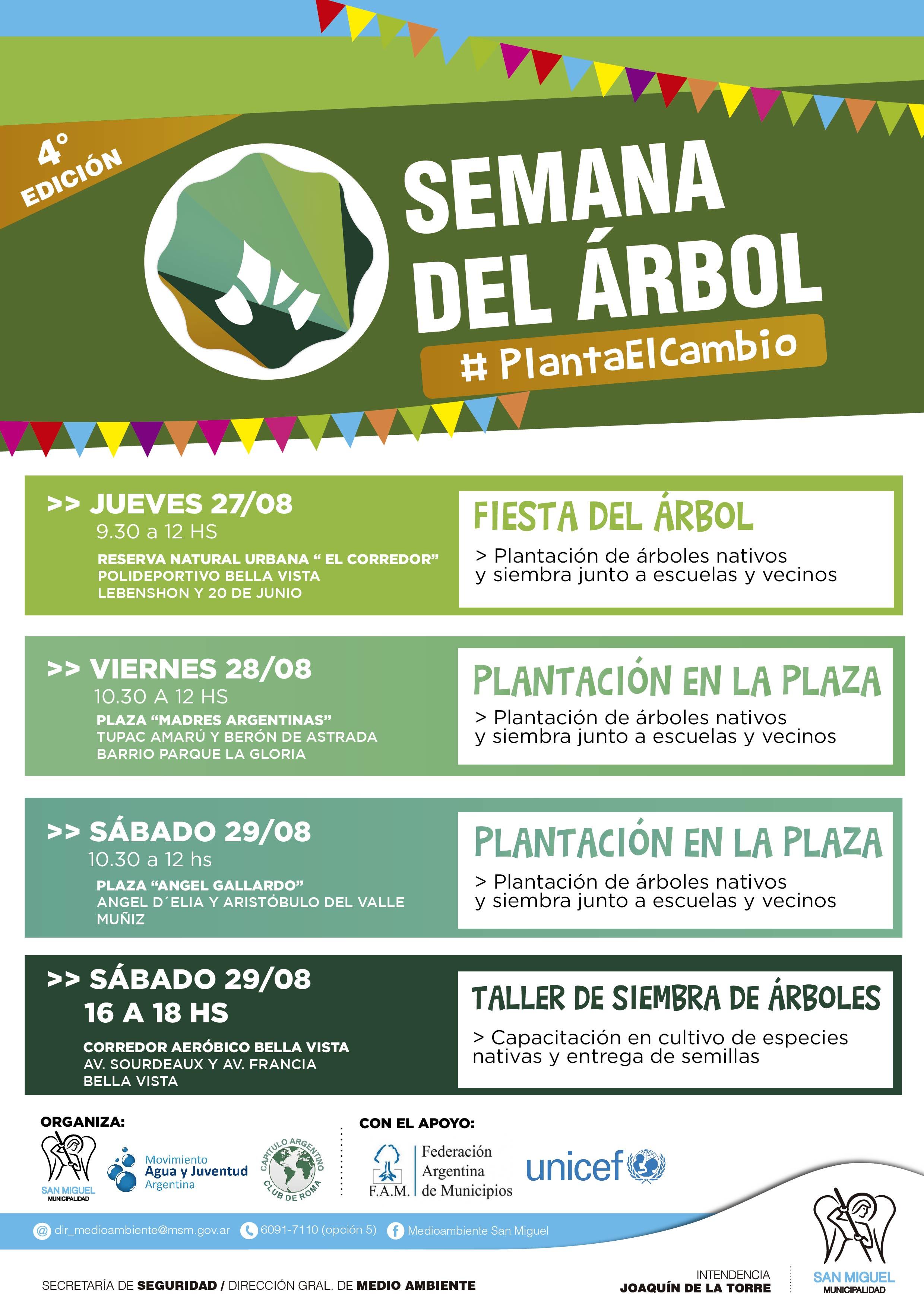 """Comienzan en San Miguel  las actividades por la celebración de la """"Semana del árbol"""""""