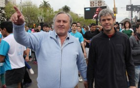 Ariel Dalbene acompañó a Joaquín en la Maratón