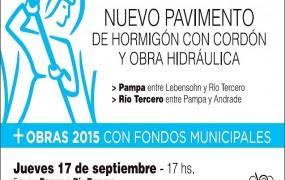 San Miguel crece: Un nuevo pavimento se inaugura mañana
