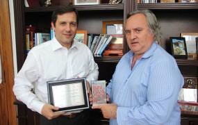 El Secretario de Gestión Pública Federico Kruse y el Intendente Municipal Joaquín de la Torre