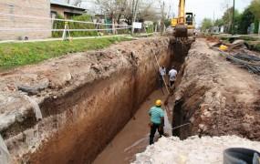 Avanza el tramo II de la obra hidráulica de Barrio Mitre