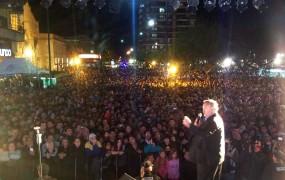 Joaquín resaltó la concurrencia de los vecinos y destacó una vez más la unión del pueblo de San Miguel