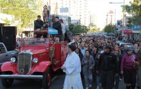 La procesión se realizó por las calles de San Miguel centro y Muñiz