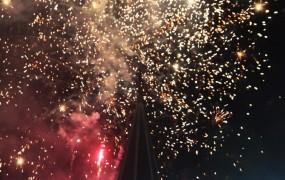 Los fuegos artificiales cautivaron a los espectadores