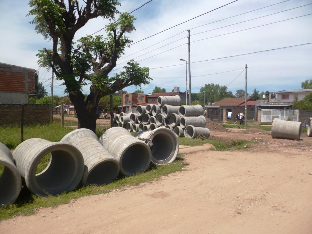 Nueva obra hidráulica en Bº El Faro